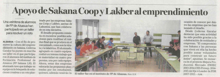 Noticia en prensa